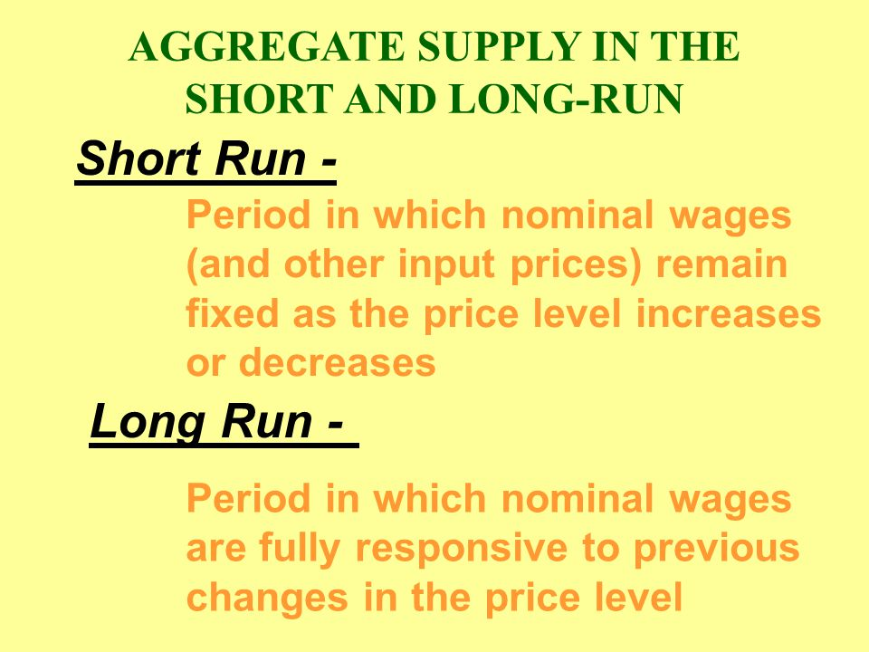 o P3P3 Q3Q3 AS 1 P1P1 P2P2 Q1Q1 Q2Q2 a2a2 a3a3 a1a1 b1b1 AS 3 c1c1 AS LR Price Level Real domestic output A lower expected price level reduces nominal wages and shifts the short-run aggregate supply to the right.