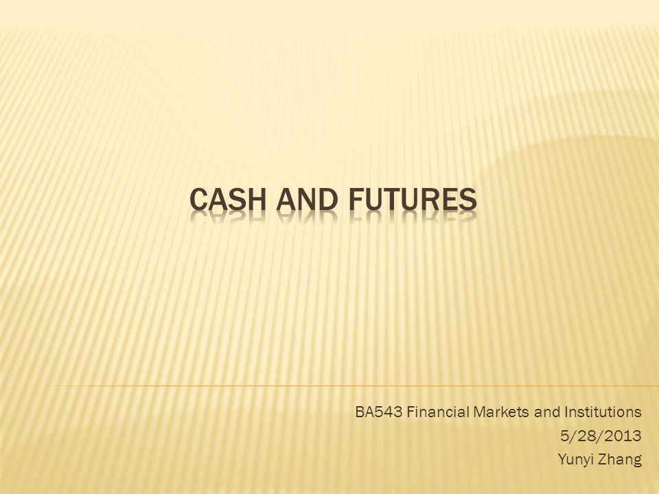 BA543 Financial Markets and Institutions 5/28/2013 Yunyi Zhang