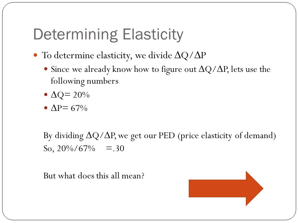 Determining Elasticity To determine elasticity, youll need to know the skills that we learned in the first two sections. If you dont remember how to d