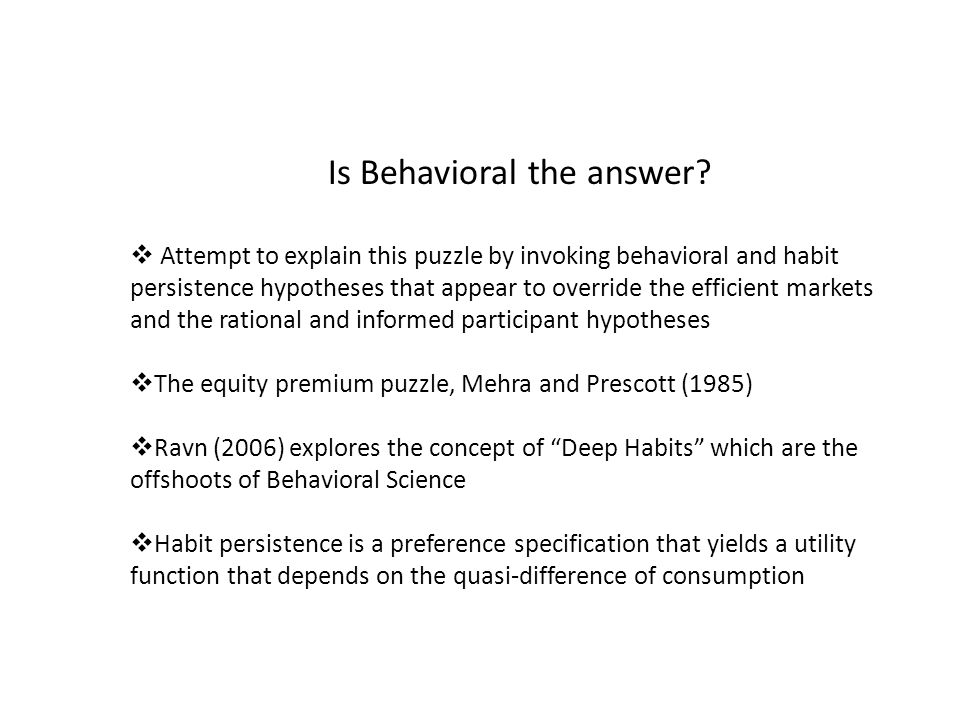 Is Behavioral the answer.