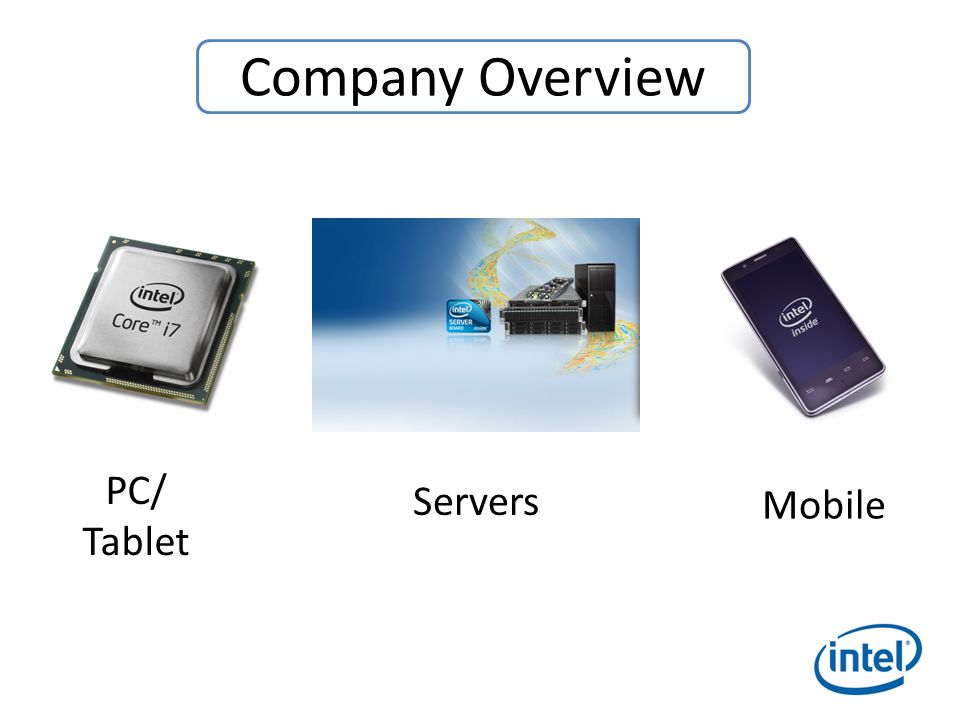PC/ Tablet Servers Mobile Company Overview