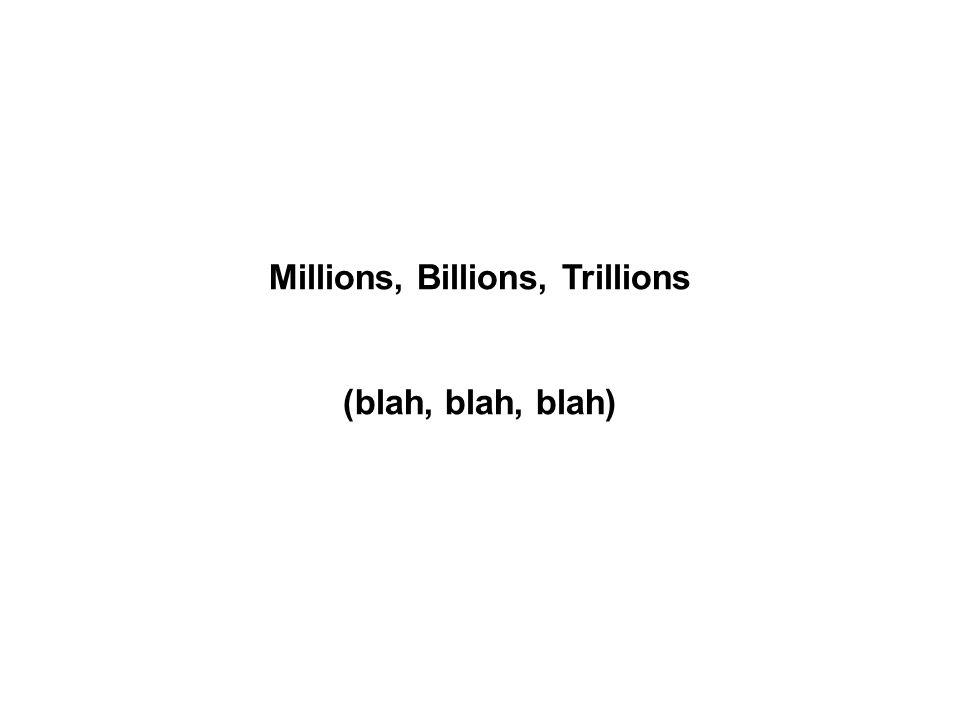 Millions, Billions, Trillions (blah, blah, blah)