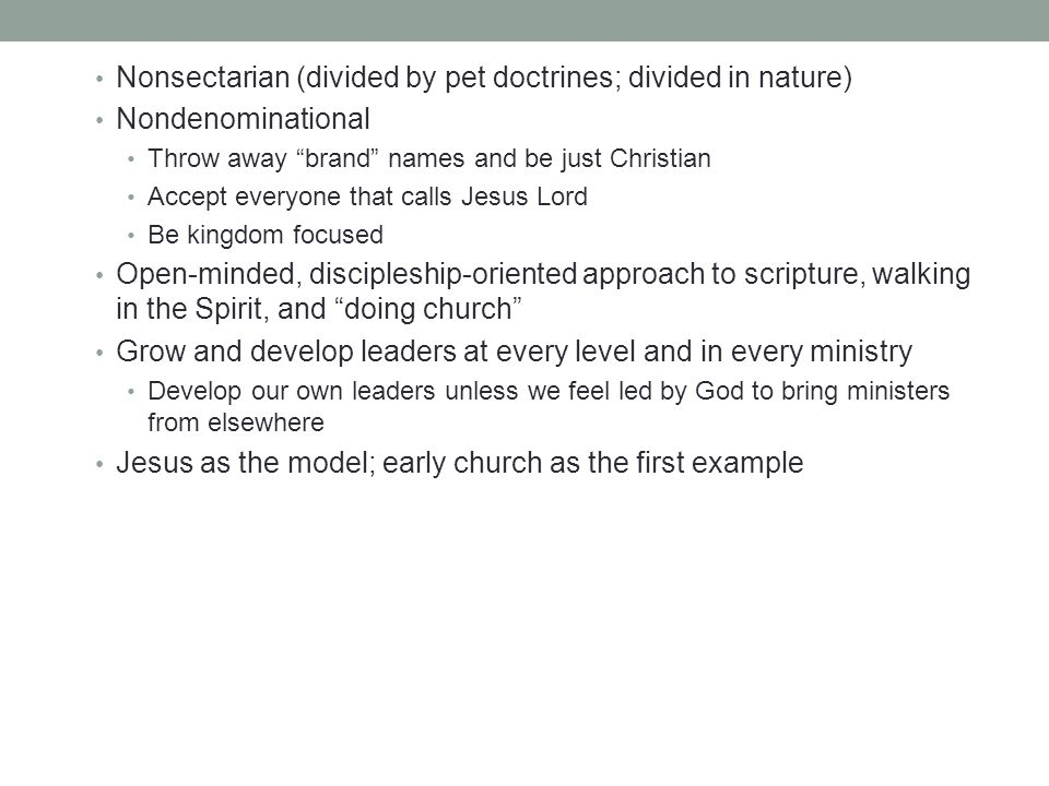 Challenge to church Take ownership over it; take responsibility.