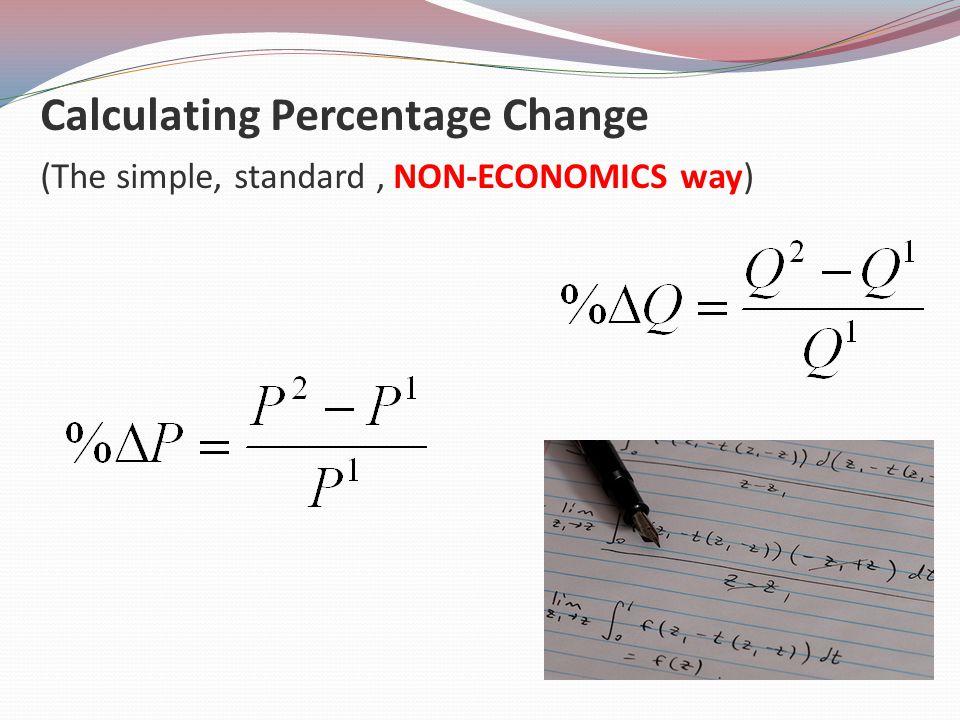 Calculating Percentage Change (The simple, standard, NON-ECONOMICS way)