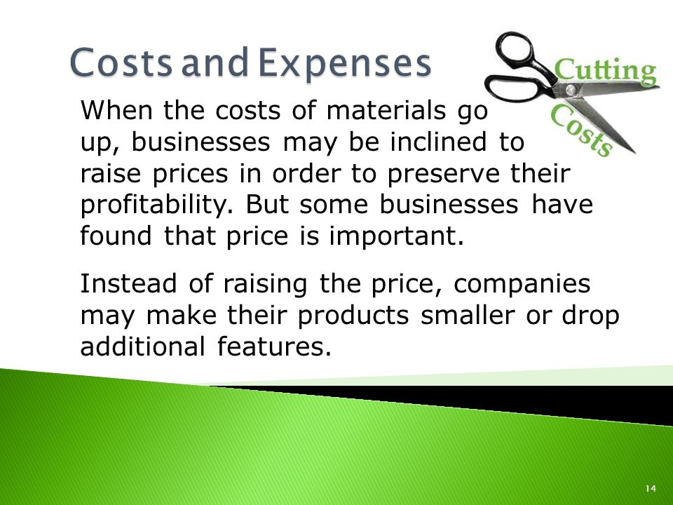 When the costs of materials go up, businesses may be inclined to raise prices in order to preserve their profitability.