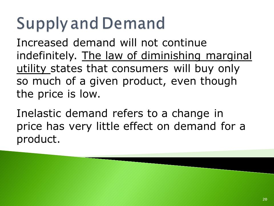 Increased demand will not continue indefinitely.