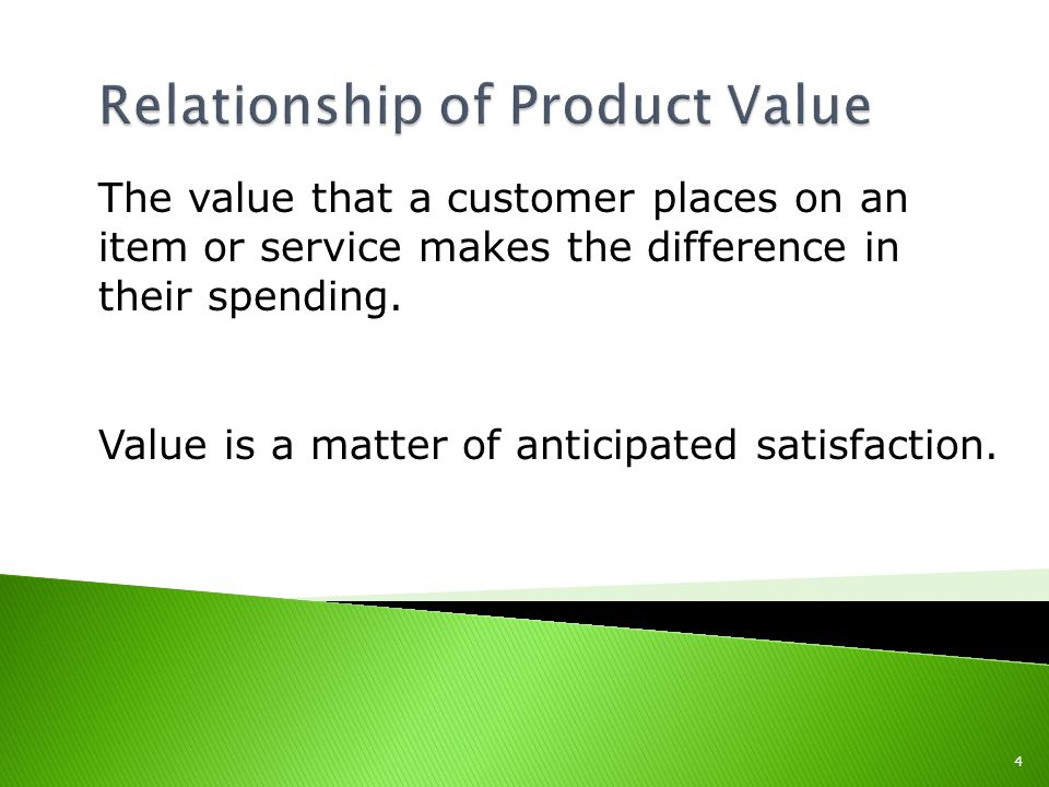 The value that a customer places on an item or service makes the difference in their spending.