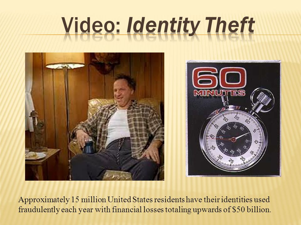 Approximately 15 million United States residents have their identities used fraudulently each year with financial losses totaling upwards of $50 billi