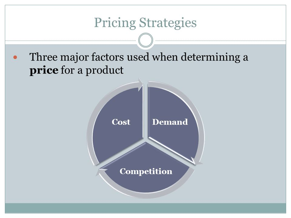 Other Price Strategies Loss Leader Setting very low prices on certain items in order to build store traffic.