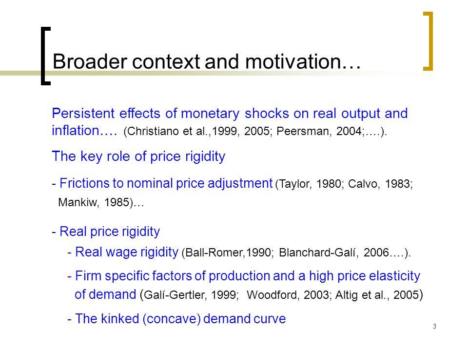 4 Introducing the kinked demand curve… Constant price elasticity of demand (Dixit-Stiglitz, 1977) = 3 : price elasticity of demand