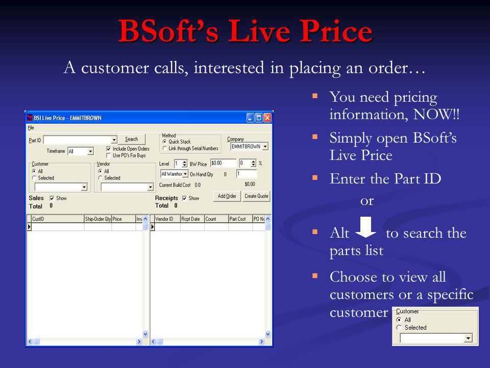 BSofts Live Price You need pricing information, NOW!.