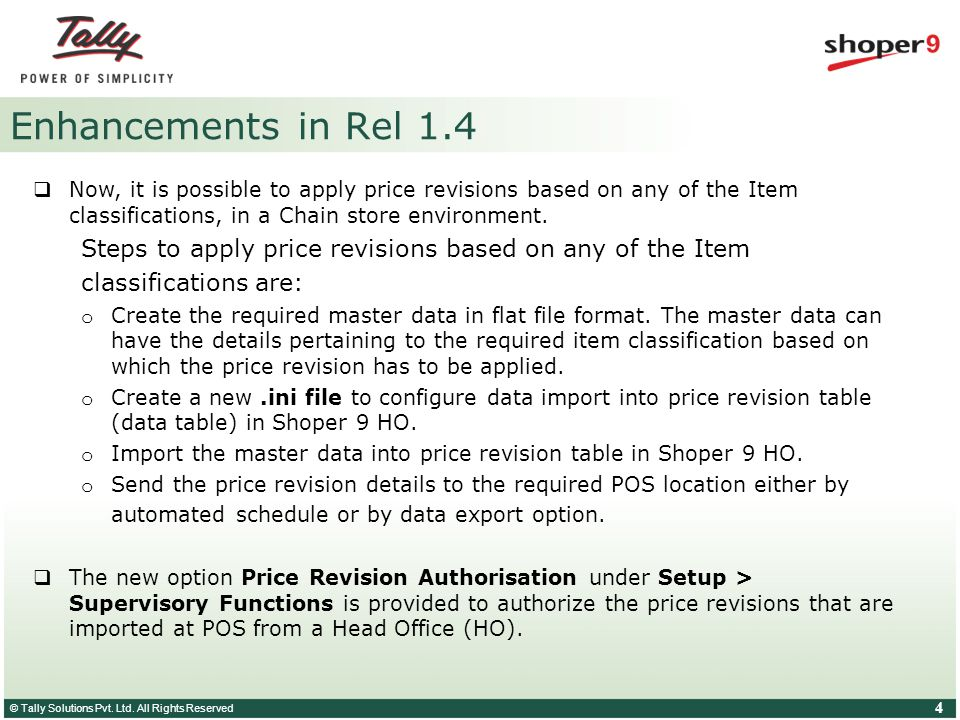 © Tally Solutions Pvt. Ltd. All Rights Reserved 5 Cataloguing Price Revisions – demo