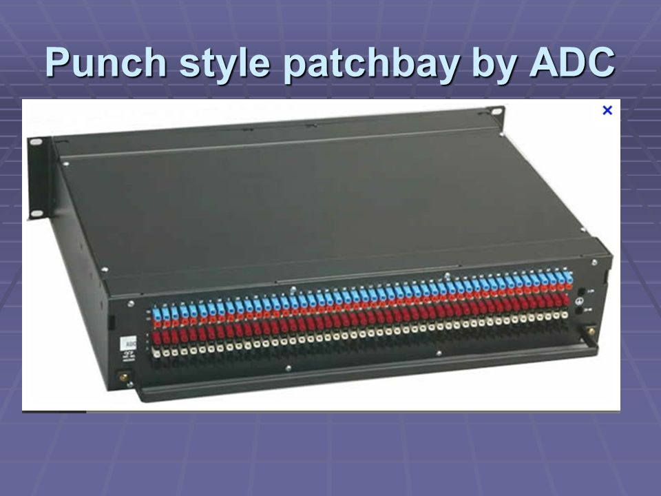 Punch style patchbay by ADC