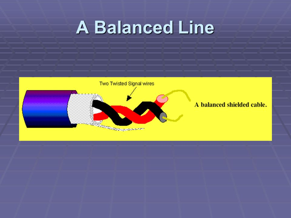 A Balanced Line