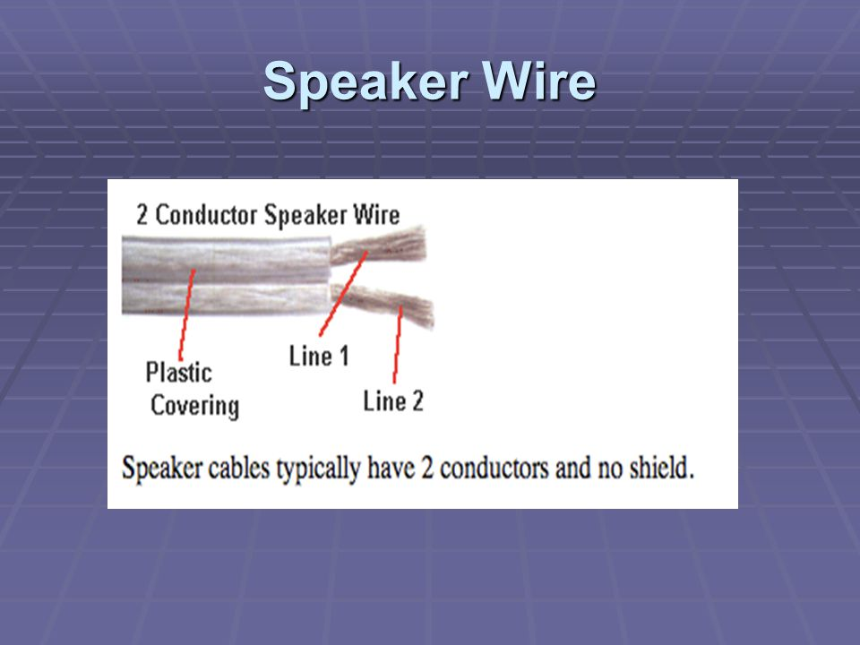 3 Electrical Characteristics of Wire Resistance/ Impedance: Will decrease the audio signal level Resistance/ Impedance: Will decrease the audio signal level Capacitance: Will roll off high frequencies Capacitance: Will roll off high frequencies Inductance: Will alter the frequencies of the signal in various ways Inductance: Will alter the frequencies of the signal in various ways