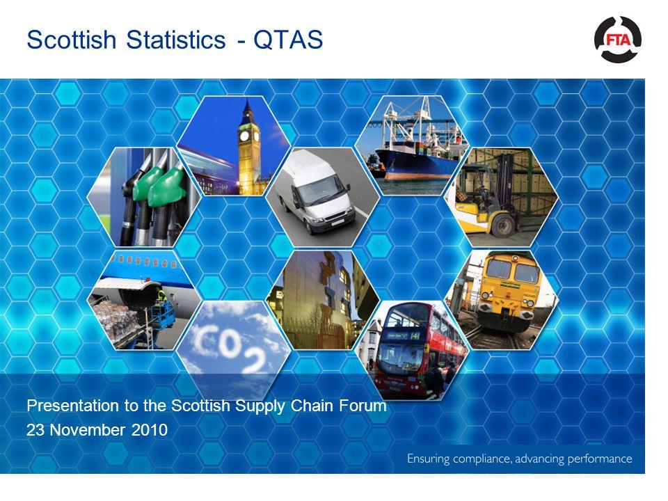 Scottish Statistics - QTAS Presentation to the Scottish Supply Chain Forum 23 November 2010