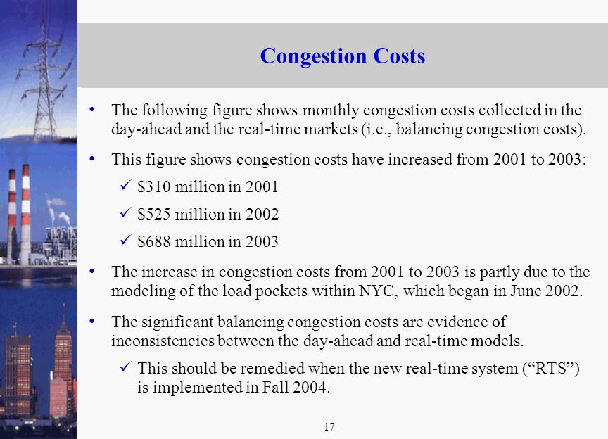 -17- Congestion Costs The following figure shows monthly congestion costs collected in the day-ahead and the real-time markets (i.e., balancing congestion costs).