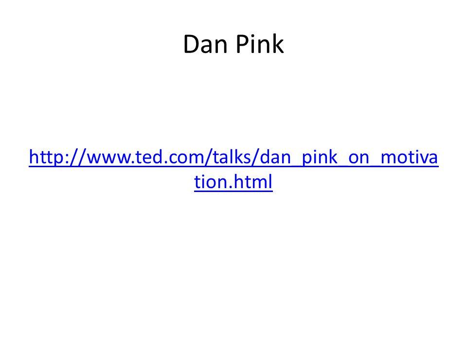 Dan Pink http://www.ted.com/talks/dan_pink_on_motiva tion.html