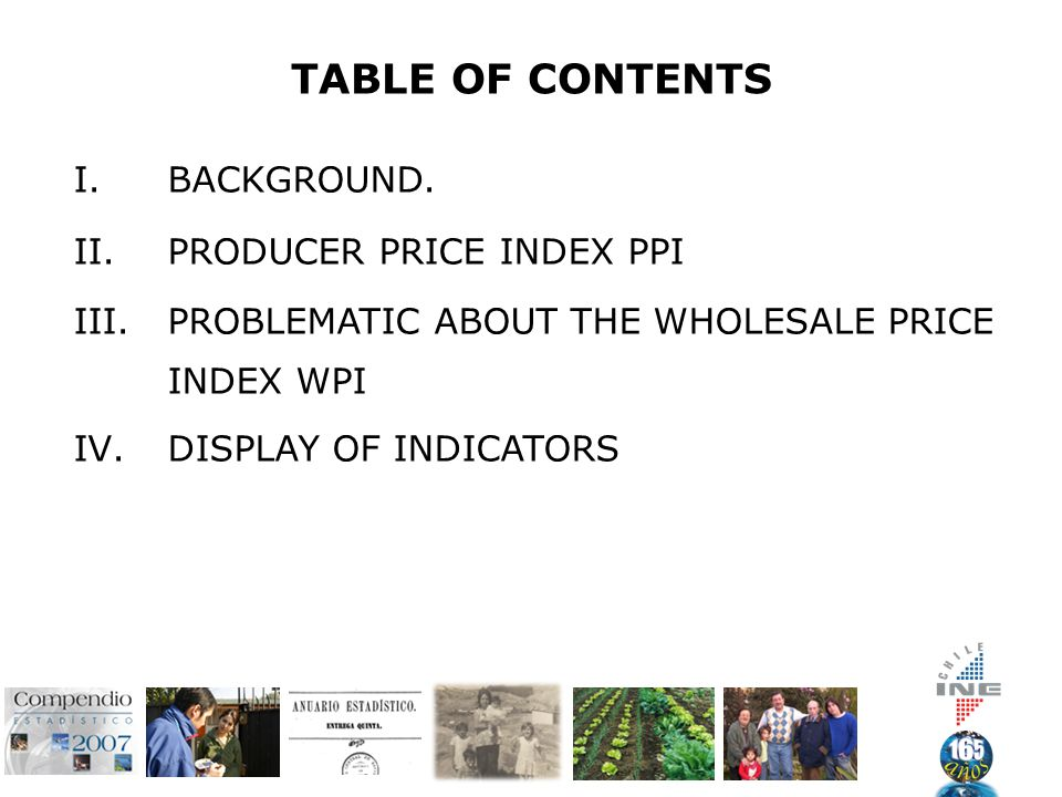 TABLE OF CONTENTS I.BACKGROUND.