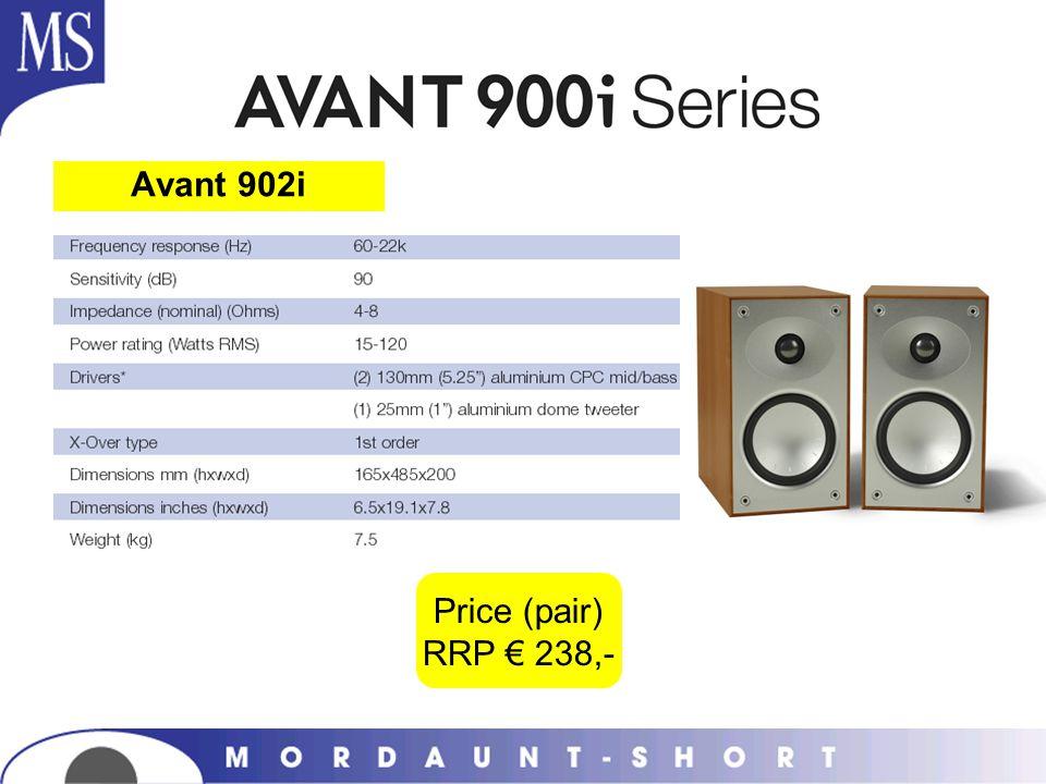 Avant 902i Price (pair) RRP 238,-