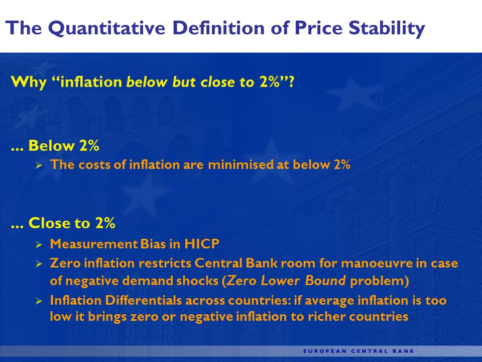 Why inflation below but close to 2% ...