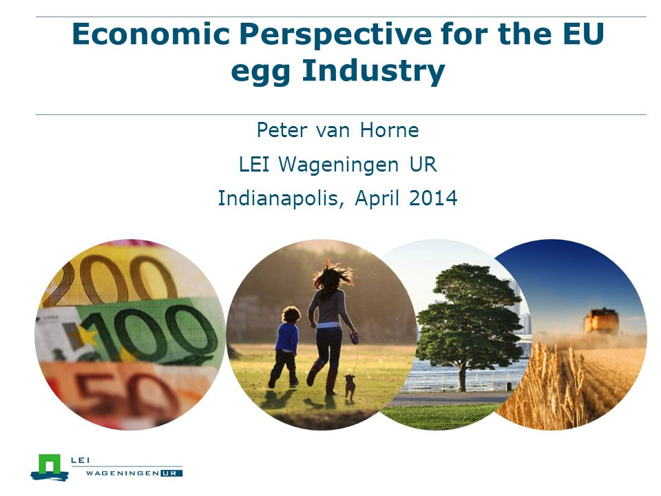 Economic Perspective for the EU egg Industry Peter van Horne LEI Wageningen UR Indianapolis, April 2014