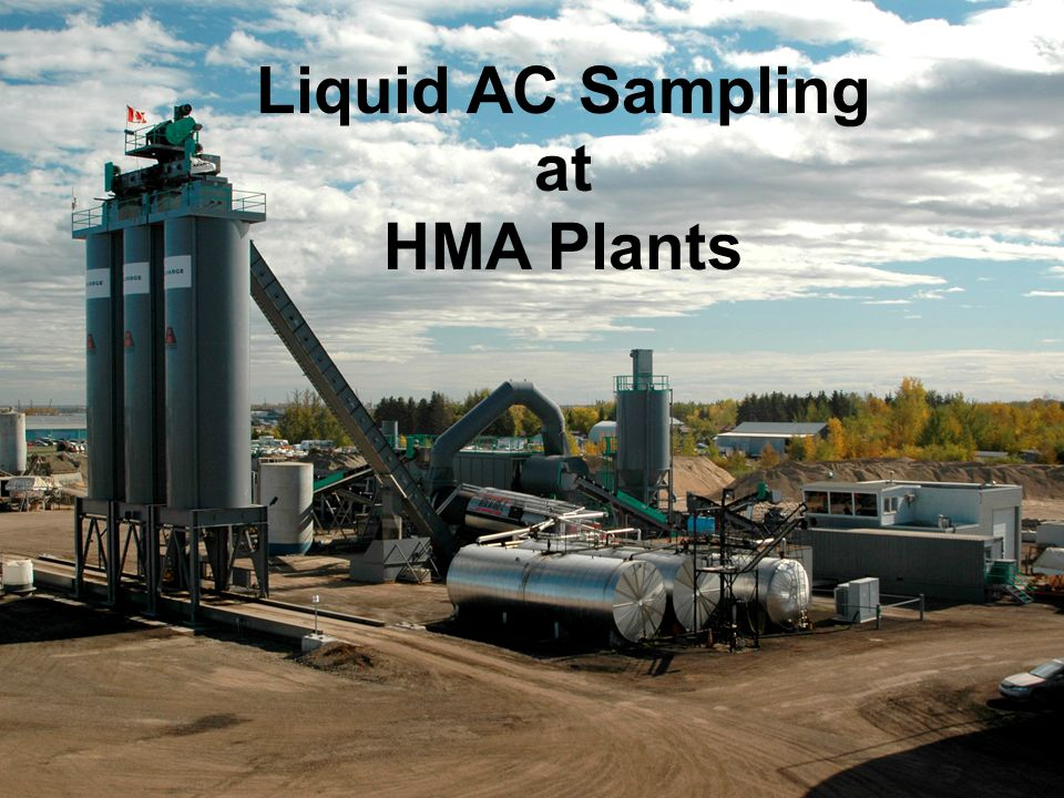 Liquid AC Sampling at HMA Plants