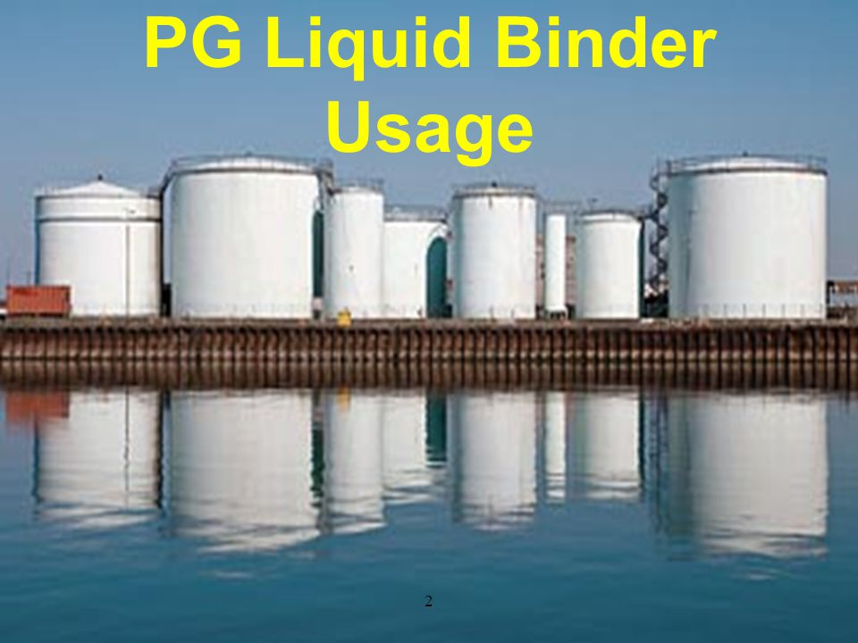 PG Binder Used (in thousand tons)
