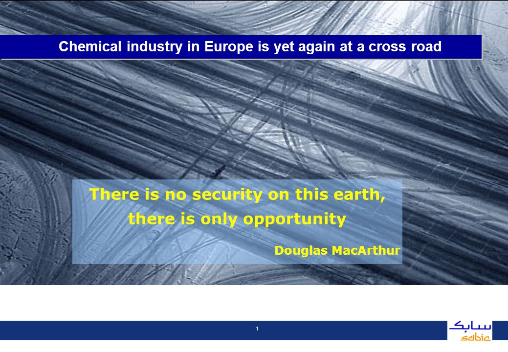 2 1.Competitive pressures in Europe 2.SABIC strategy 1.Competitive pressures in Europe Contents