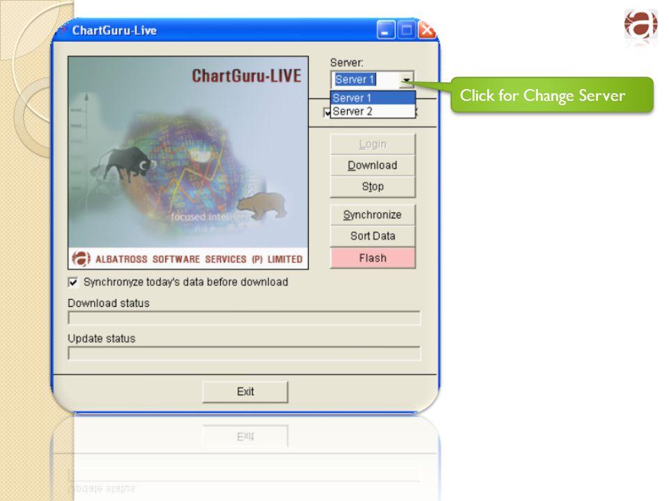 Click for Change Server