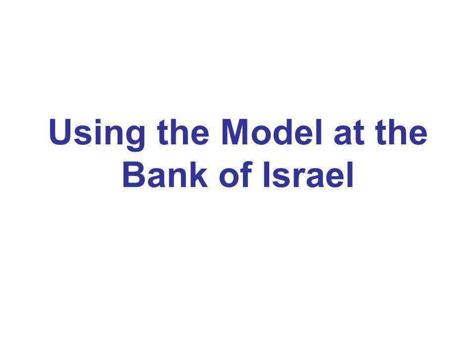 Using the Model at the Bank of Israel