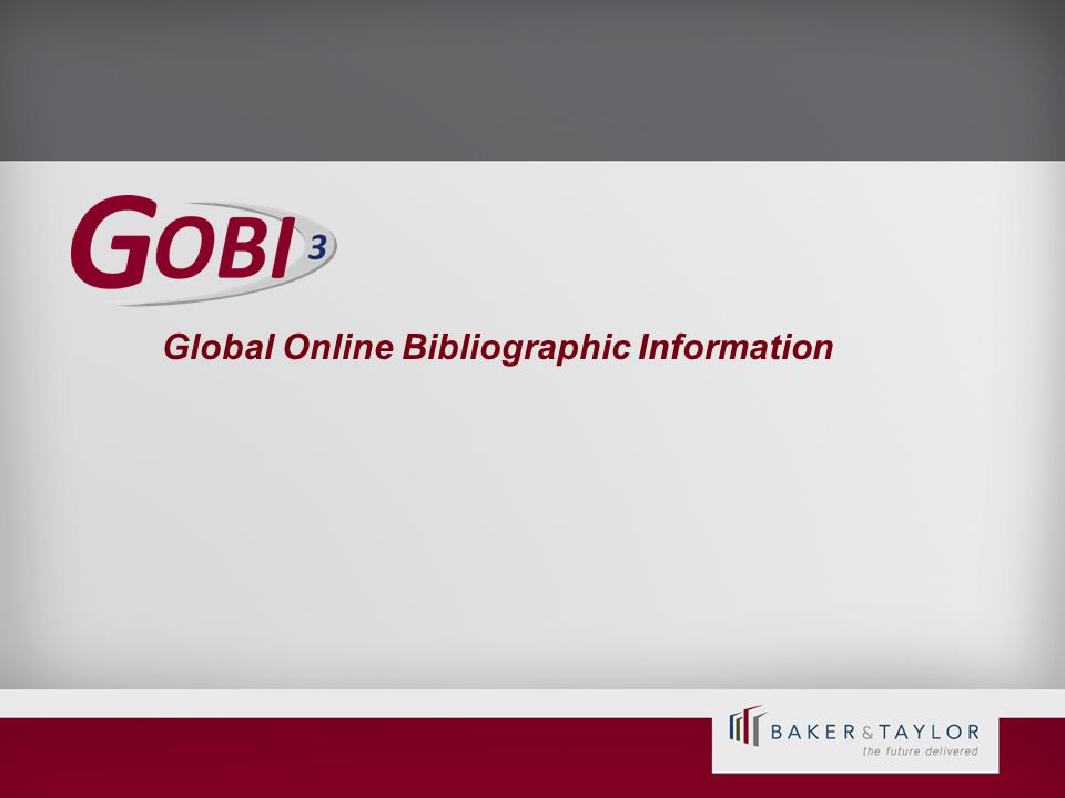 Global Online Bibliographic Information