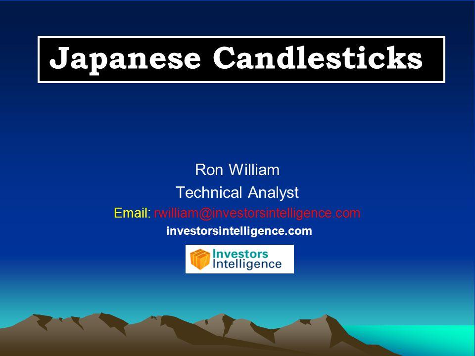Japanese Candlesticks Ron William Technical Analyst Email: rwilliam@investorsintelligence.com investorsintelligence.com