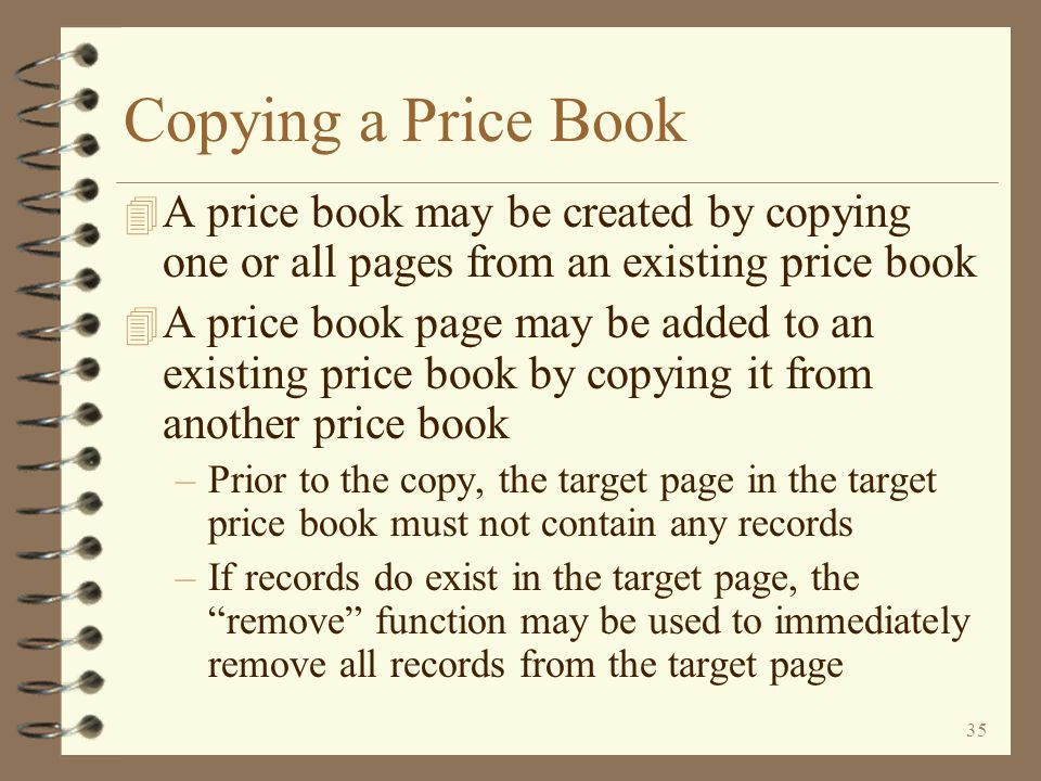 34 Return to Work with Price Books Maintaining Existing Price Book Maintaining Page 3 item related pages Maintaining a multiple item price record is similar to standard DMAS price book maintenance To confirm a master record change, the user presses the Enter key a second time