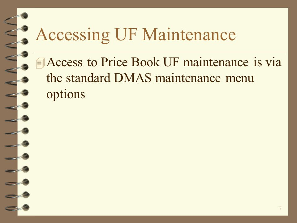 27 Maintaining Existing Price Book By using the proper option, the user indicates which part of the price book is to be maintained The price book header is maintained using option 2 Price class page 4 records are maintained by using option C 2=Change book desc/pae status 2=Change book desc/pae status C=Work with price classes C=Work with price classes I=Work with items I=Work with items Return to Price Book Summary Item related pages 1, 2 and 3 are maintained with option I