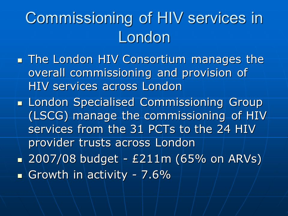 Retender of London HIV Homecare 2008 Tenders were scored using the eAward system by myself, NHS PaSA and 2 HIV Pharmacy Leads Tenders were scored using the eAward system by myself, NHS PaSA and 2 HIV Pharmacy Leads Final adjudication – 1 st Aug 2008.
