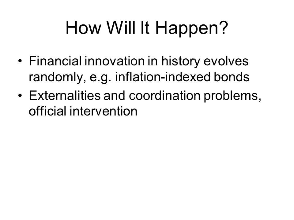 How Will It Happen. Financial innovation in history evolves randomly, e.g.
