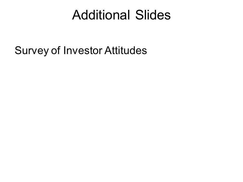 Additional Slides Survey of Investor Attitudes