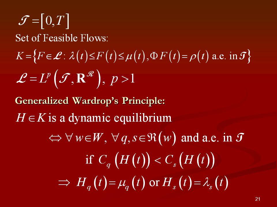 21 Generalized Wardrops Principle: