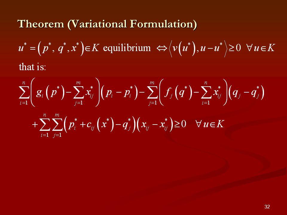 32 Theorem (Variational Formulation)