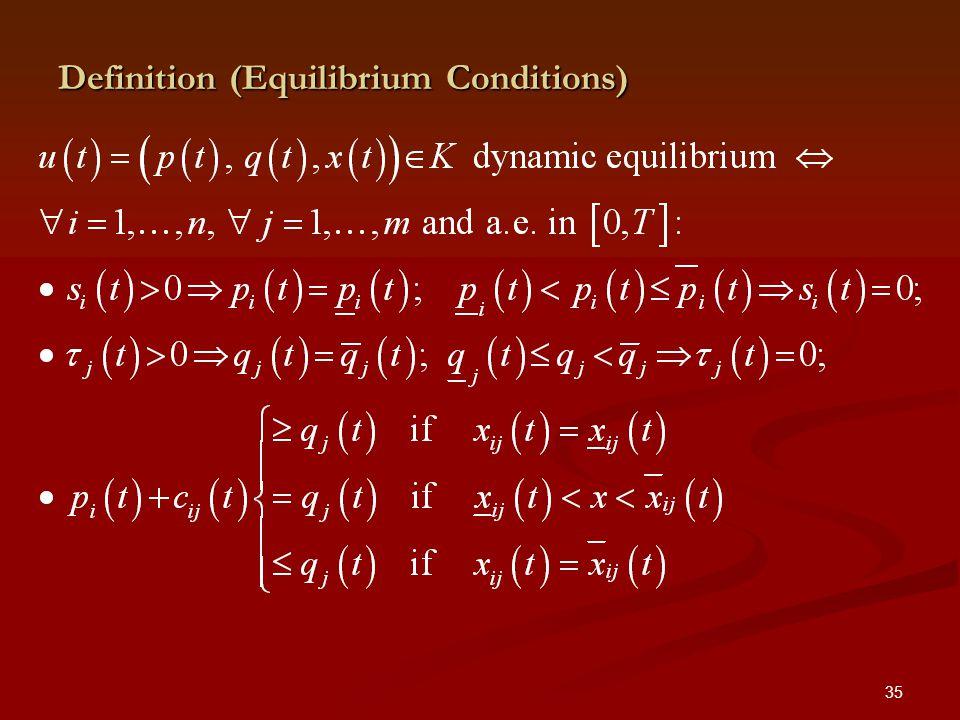 35 Definition (Equilibrium Conditions)