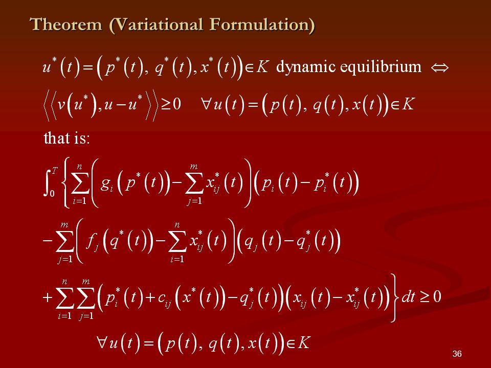 36 Theorem (Variational Formulation)