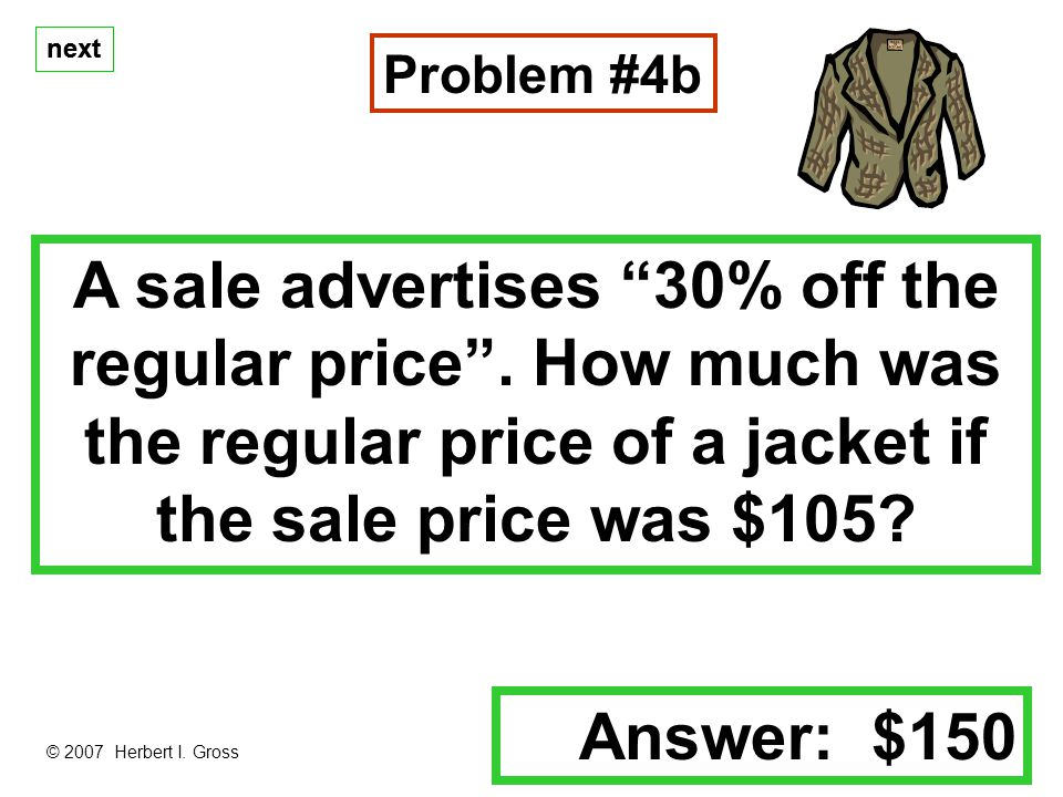 next A sale advertises 30% off the regular price.