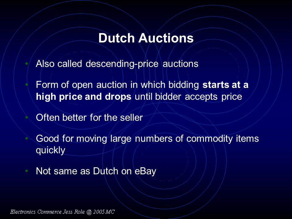 Online Auctions and Related Businesses Three categories of auction Web sites –General consumer auctions –Specialty consumer auctions –Business-to-business auctions Largest number of transactions –Occurs on general consumer auction sites