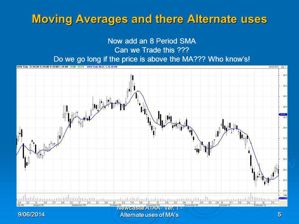 Moving Averages and there Alternate uses 9/06/20146 Newcastle ATAA - Ver.