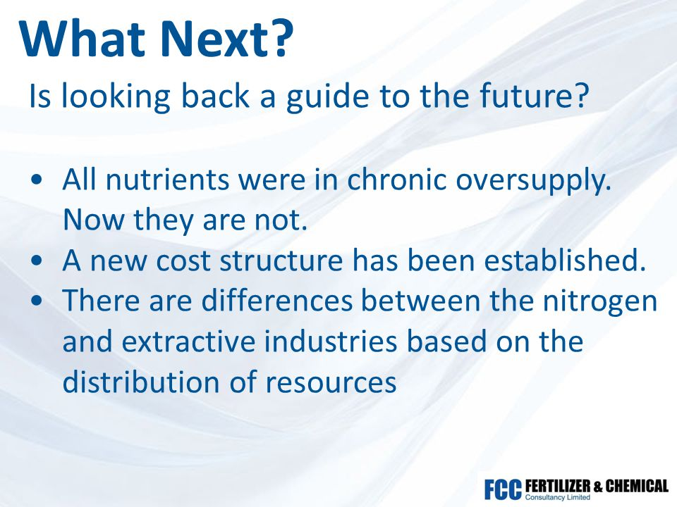 What Next. Is looking back a guide to the future.