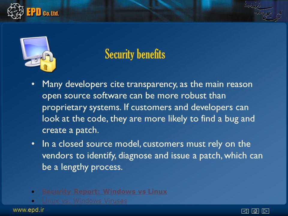 www.epd.ir EPD Co.Ltd. For these reasons, EPD Co.