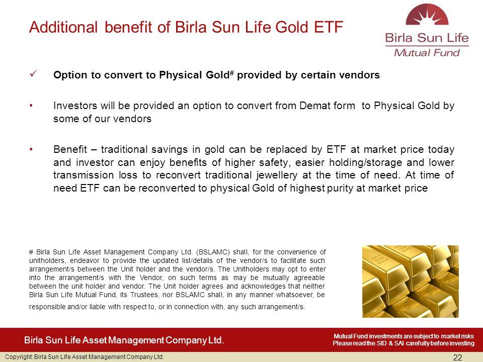 Copyright: Birla Sun Life Asset Management Company Ltd.