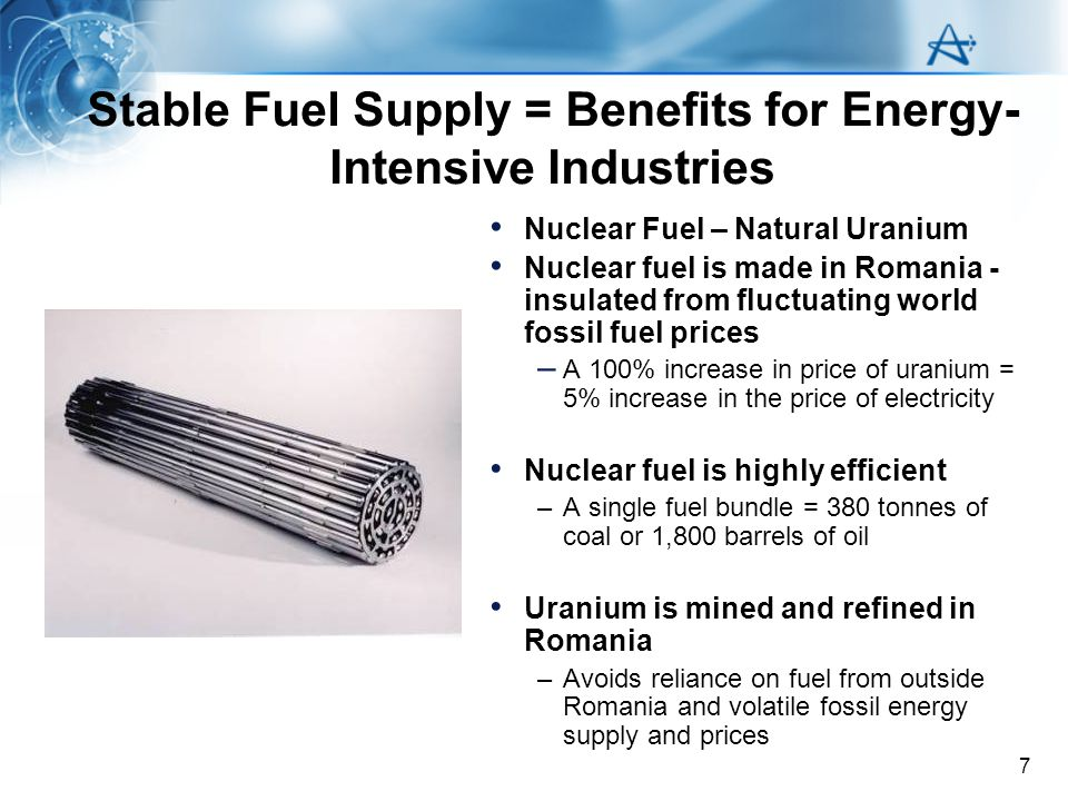 8 Romania and Future Nuclear provides for: –base load supply security and price stability –Modern alternative and competitive solutions to electricity generation –reduction of GHG emissions –utilization of domestic resources –improved local industry capability through technology of work and enhanced quality programs required by nuclear