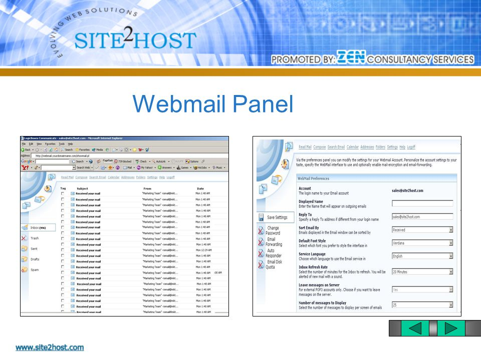 Domain Control Panel